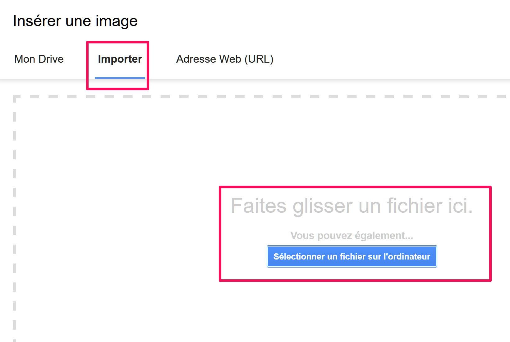 capture d'écran import image